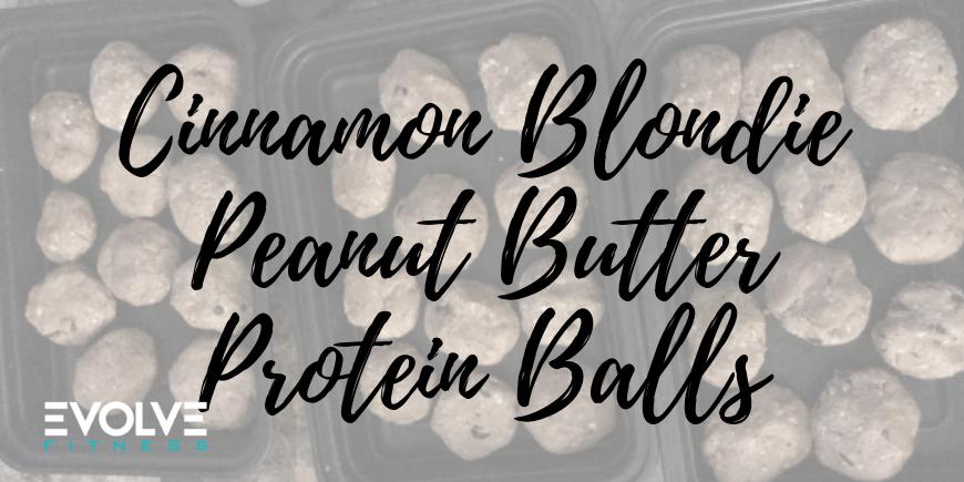 Cinnamon Blondie PB Protein Balls